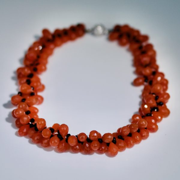 Carnelian & onyx necklace