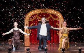 """Ira Glass, Monica Bill Barnes & Co.""""Three Acts, Two Dancers, One Radio Host"""" 10/19/13 Granada Theatre presented by UCSB Arts & Lectures"""