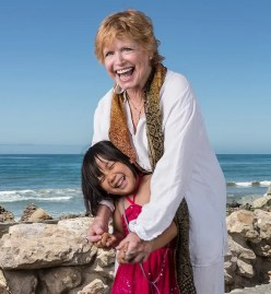 Bonnie Franklin & her grandaughter 6/30/12 Solimar Beach