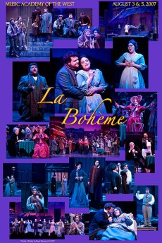 """Photo Poster from """"La Bohème"""" - Music Adacemy of the West"""