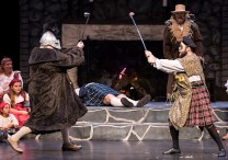 A different way of dueling in the highlands - Santa Barbara Revels Winter Solstice Celebration 12/16/16 The Lobero Theatre