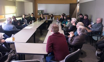 """Bill T. Jones """"conversation"""" with UCSB students & Faculty 1/19/17 UCSB TDW 2517"""