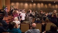 Dancing to Klezmer music - UCSB Arts & Lectures 1/24/17 Congregation B'nai B'rith