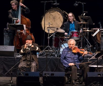 """Jim Guttman, Frank London, Itzhak Perlman and Grant Smith - """"In the Fiddler's House"""" 20th Anniversary concert - UCSB Arts & Lectures 1/23/17 The GranadaTheatre"""