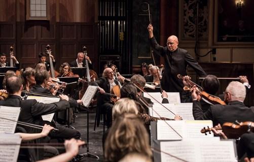 Dennis Russell Davis conducting the Bruckner Orchestra Linz - CAMA Santa Barbara 2/7/17 The Granada Theatre
