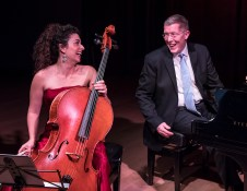 Ani Aznavoorian and Warren Jones in a lighter moment - Camerata Pacifica 2/17/17 Hahn Hall