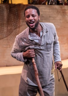 """Elijah Rock (Porgy) in Ensemble Theatre Company's """"Porgy and Bess"""" 2/8/17 the New Vic Theatre"""