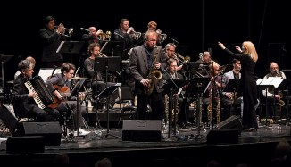 Rich Perry solos with the Maria Schneider Orchestra at the Lobero Theatre 2/20/17