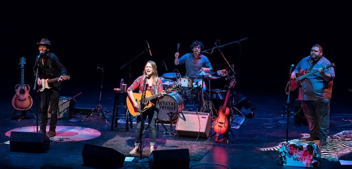 Crystal Bowersox and her band performing at Lobero Live! 4/28/17 The Lobero Theatre