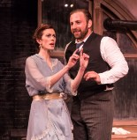 """Sara Brophy as Anna and Zander Meisner as Henry in Alan Knee's """"Syncopation"""" - Ensemble Theatre Co. 6/7/17 The New vic Theatre"""