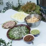 Chef Nils Bernstein's appetizers at Susanna Vapnek's Fiesta Party 8/5/17 Susanna Vapnek's residence