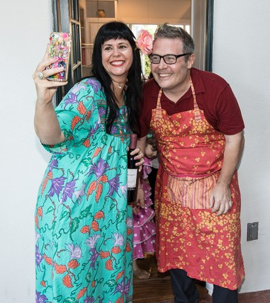 Nils takes time out from the kitchen for a selfie Susanna Vapnek's Fiesta Party 8/5/17 Susanna Vapnek residence