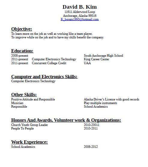 Resume No Job Experience. Resume For No Job Experience Template