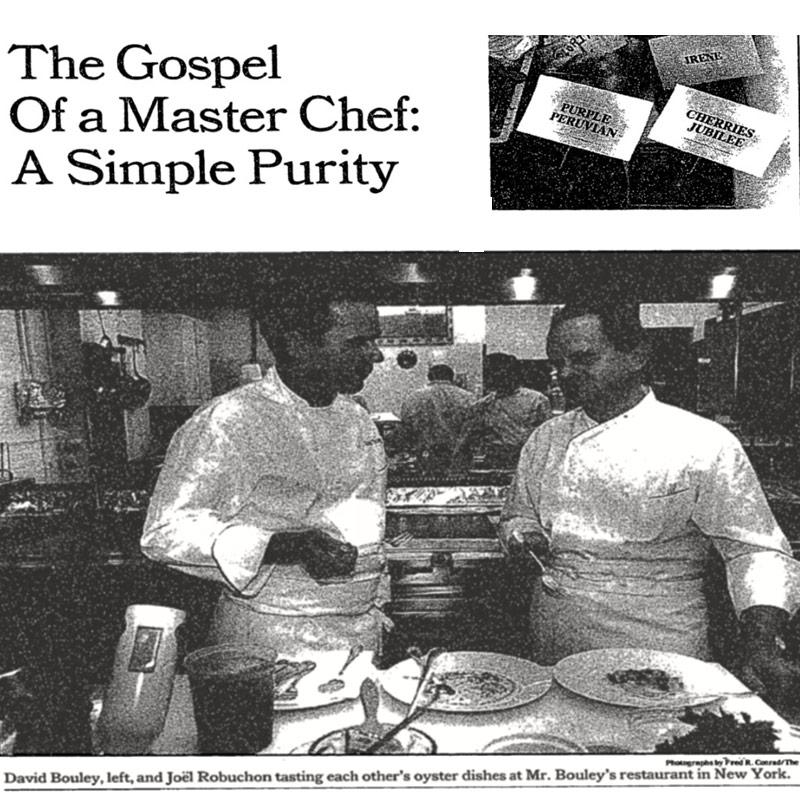 NY Times David Bouley Joel Robuchon (1991) - image1