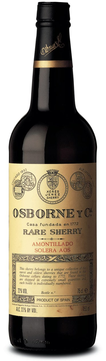 osborne solera aos bottle