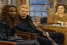 David Bowie on Rosie O Donnell Show with Iman (1997)