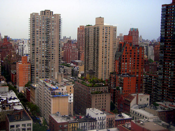 """Seth's studio view where he feels he is """"part of the skyline""""."""