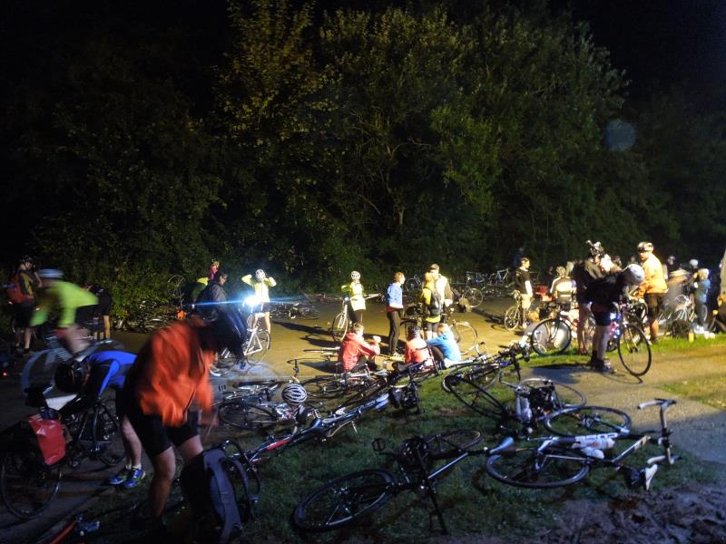 Saturday Night Most Living: Halfway through the Dunwich Dynamo 114 mile night cycle from London to the sea.