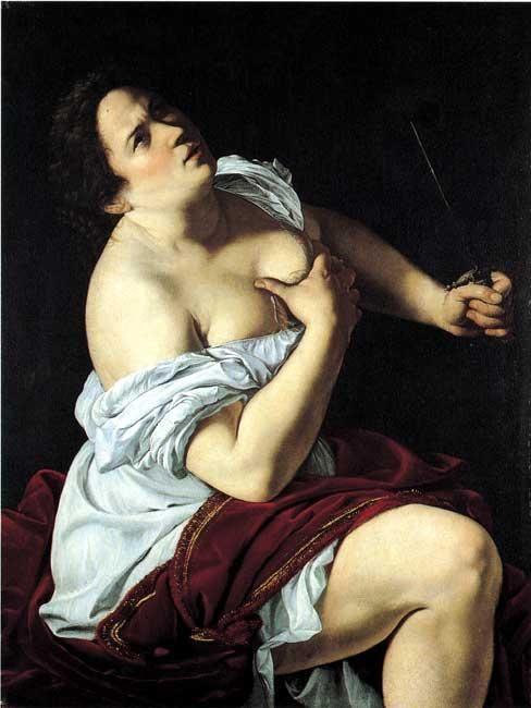 Artemisia Gentileschi. Lucretia. 1621