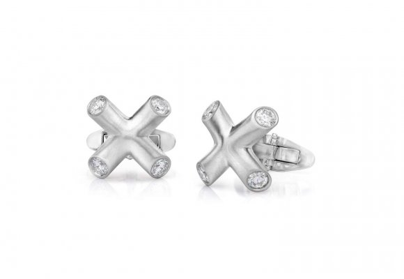 Forevermark X diamond cufflinks