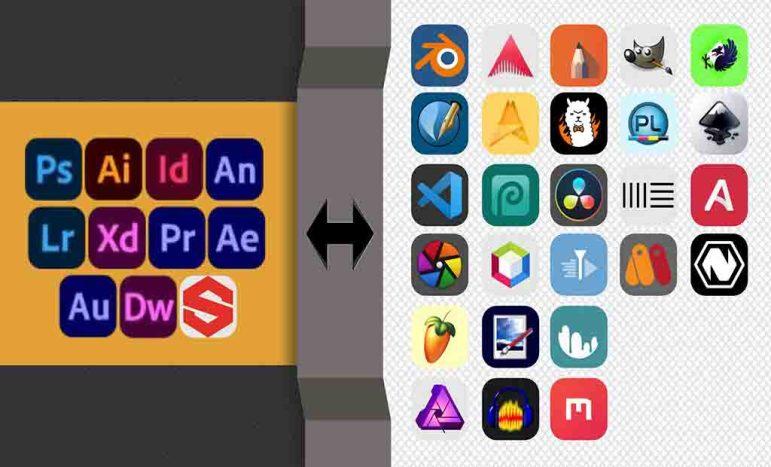 Alternativas para os mais Famosos Programas da Adobe 2021