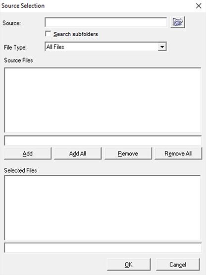 Janela de Script File Converter