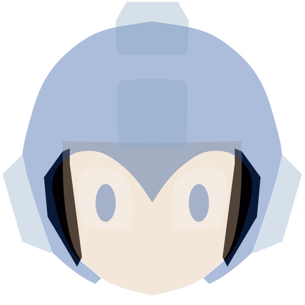 Mega Man Preenchimento sem corte