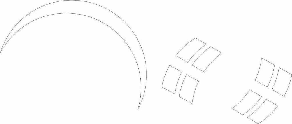 CorelDRAW Meia lua e retângulos bolha de sabão