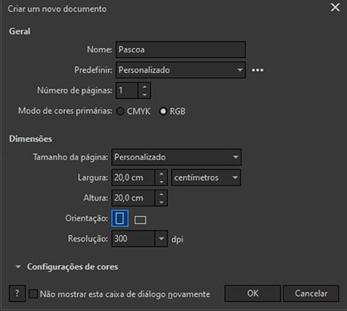 Configurando área de trabalho CorelDRAW2020
