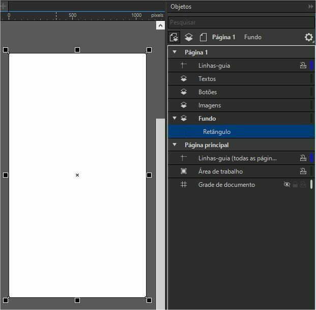 CorelDRAW Cartão digital posicionando imagens