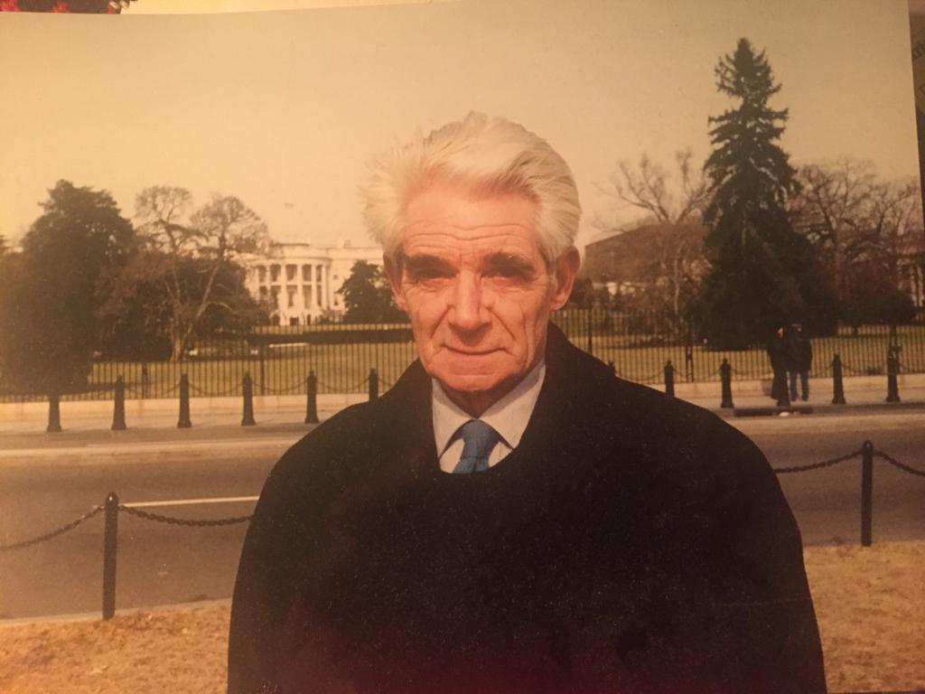 Sir Charles Wheeler in front of White House