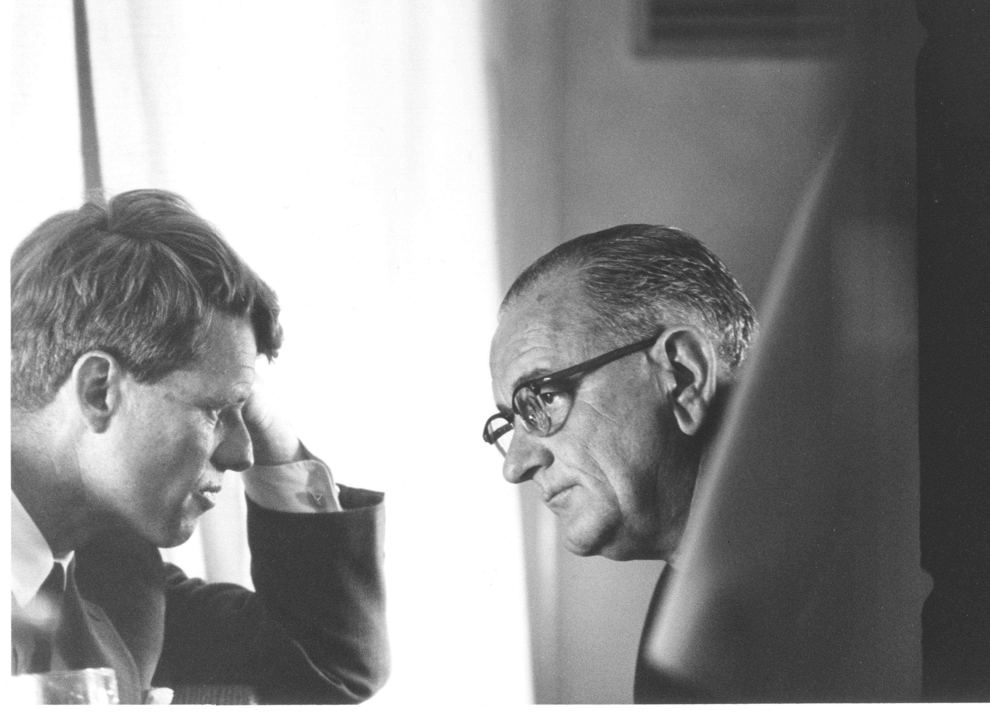 LBJ talks to RFK
