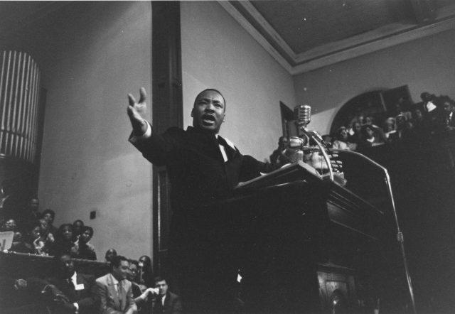 Martin Luther King Jr. giving speech