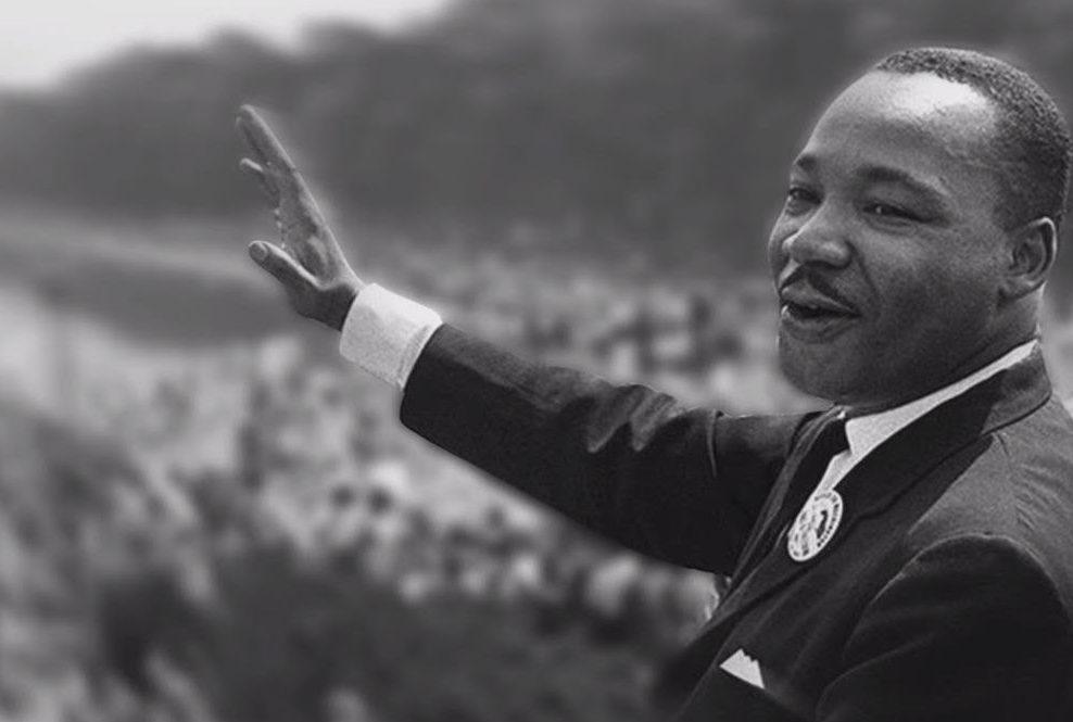 MLK giving speech in Washington DC