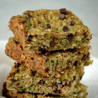 Toffee Zucchini Oat Squares