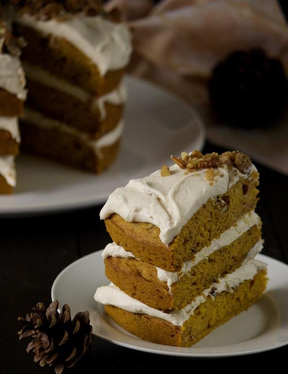 Pumpkin Pecan Cake 07