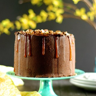 Salted-Almond Chocolate Cake