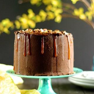 Vegan Salted Almond Chocolate Cake