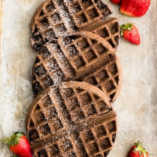 Vegan Chocolate Waffles