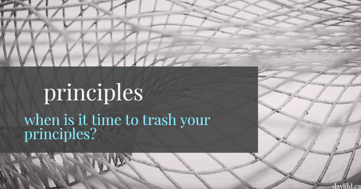 Trashing your principles