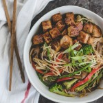 Lo Mein with Hoisin Glazed Tofu
