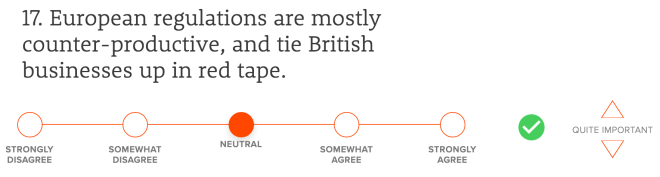 European regulations are mostly counter-productive, and tie British businesses up in red tape.