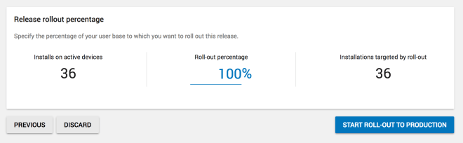 percentage of people to roll-out to