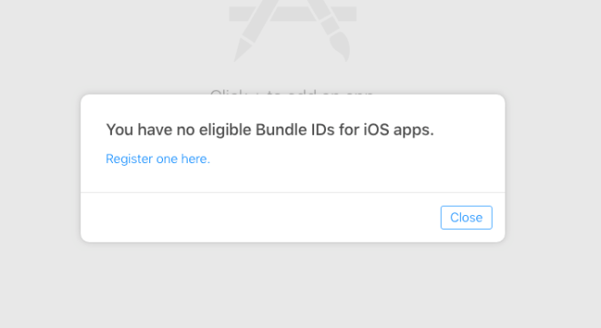 No eligible bundle ids