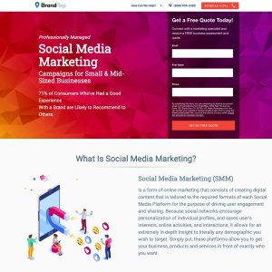 Social Media Marketing Landing Page Featured Image