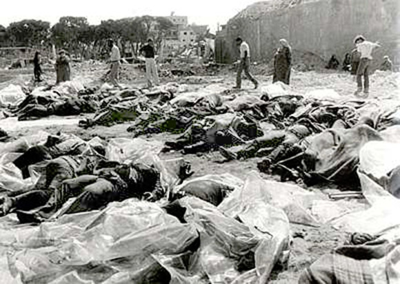 "The Deir Yassin massacre. Today  Israel's ""Holocaust"" memorial Yad Vahsem, overlooks the site."