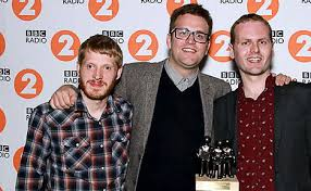Photo of the Young'uns accepting best group award