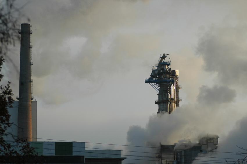 usine fumante