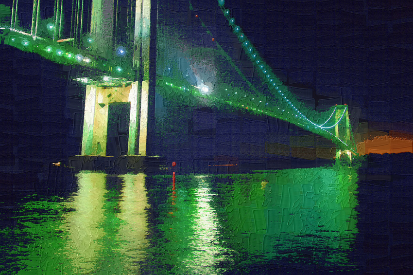 oil verrazano narrows bridge