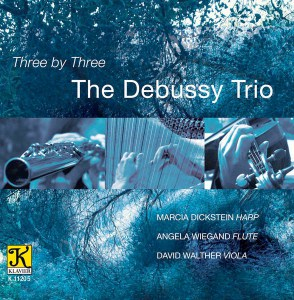 Three by Three flute, viola and harp CD cover